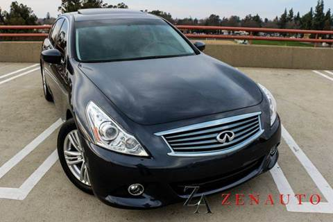 2013 Infiniti G37 Sedan for sale at Zen Auto Sales in Sacramento CA