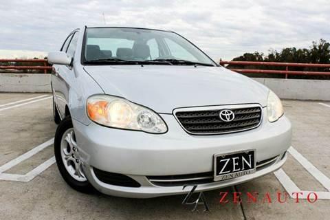 2007 Toyota Corolla for sale at Zen Auto Sales in Sacramento CA