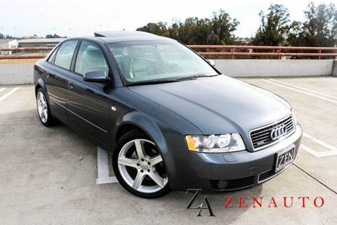 2003 Audi A4 for sale at Zen Auto Sales in Sacramento CA