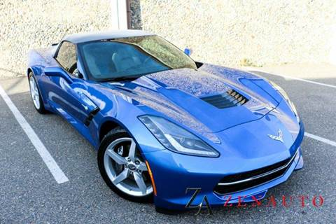 2014 Chevrolet Corvette for sale at Zen Auto Sales in Sacramento CA