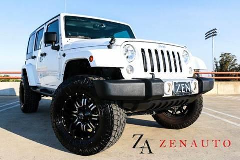2014 Jeep Wrangler Unlimited for sale at Zen Auto Sales in Sacramento CA