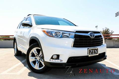 2015 Toyota Highlander for sale at Zen Auto Sales in Sacramento CA