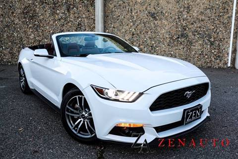 2015 Ford Mustang for sale at Zen Auto Sales in Sacramento CA
