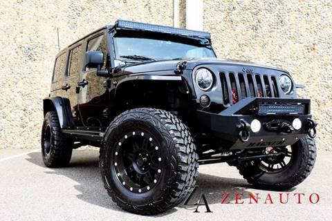 2015 Jeep Wrangler Unlimited for sale at Zen Auto Sales in Sacramento CA