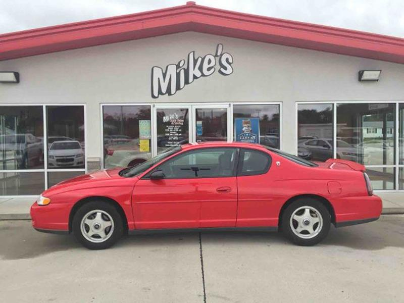 2002 Chevrolet Monte Carlo for sale at Mike`s Auto Sales in Columbus NE