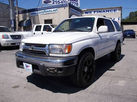 2001 Toyota 4Runner for sale at Carz Of Texas Auto Sales in San Antonio TX