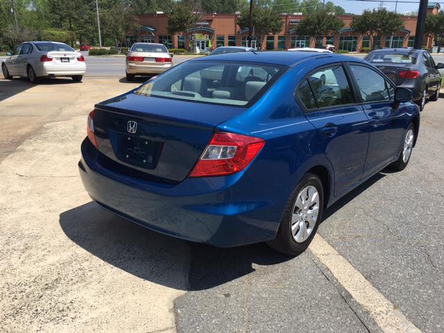 2012 Honda Civic LX 4dr Sedan 5A - Charlotte NC