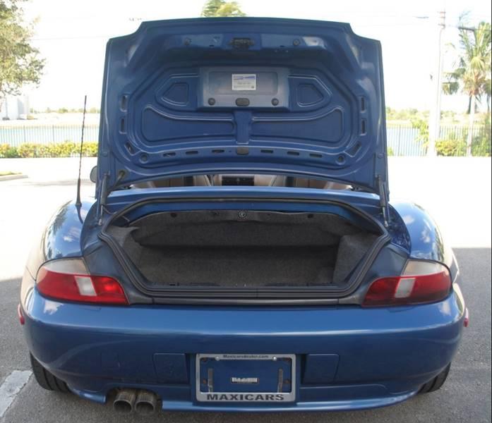 Bmw Z3 Mileage: 2001 Bmw Z3 2.5i 2dr Roadster In Hollywood FL