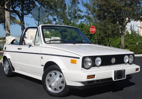 1992 Volkswagen Cabriolet for sale in West Park, FL