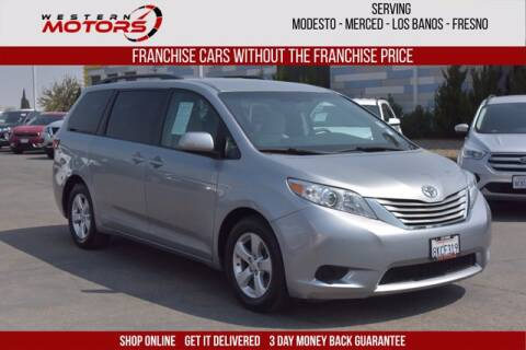 2017 Toyota Sienna for sale at Choice Motors in Merced CA