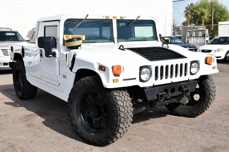 2003 HUMMER H1 OPEN TOP 4WD 4DR SUV white this 2003 hummer h1 has a 65l diesel v8 and an automat