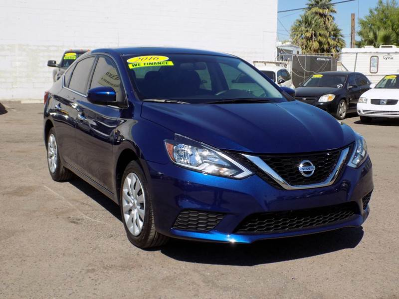 2016 NISSAN SENTRA SV 4DR SEDAN blue are you in need of a economic vehicle then come down to dis