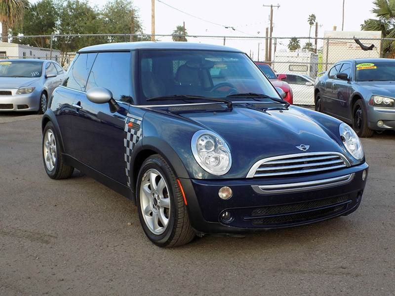 2006 MINI COOPER BASE 2DR HATCHBACK blue here we have a 2006 mini cooper checkmate edition this