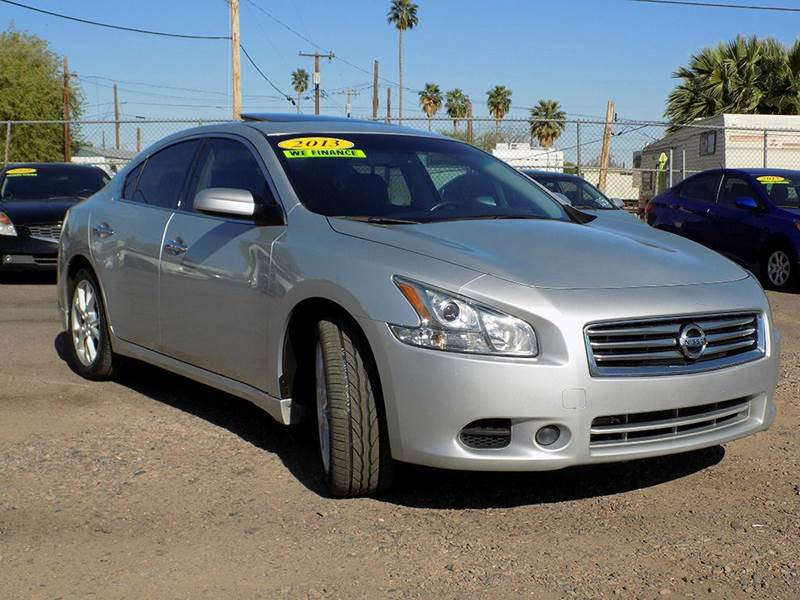 2013 NISSAN MAXIMA 35 S 4DR SEDAN silver stop by discount auto sales and look at the gorgeous si