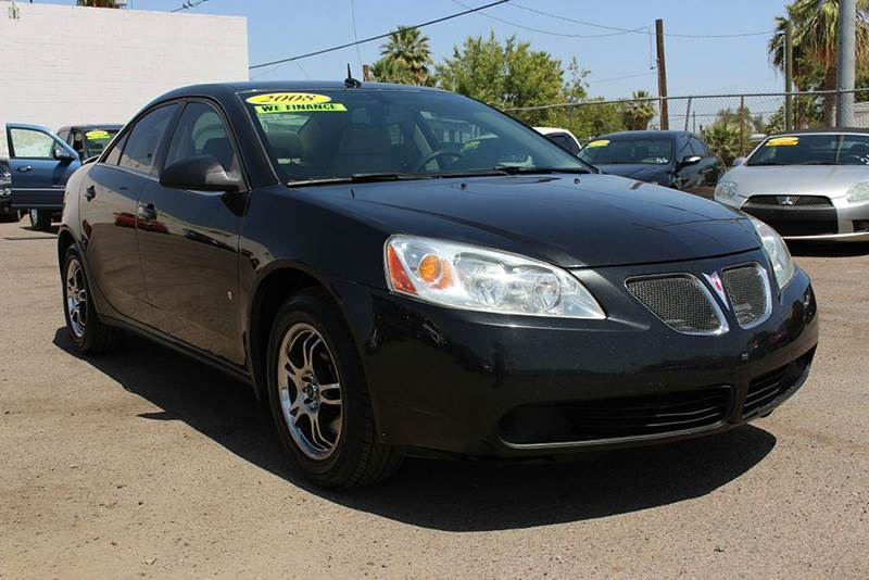 2008 PONTIAC G6 VALUE LEADER 4DR SEDAN black stop by discount auto sales and have a look at this