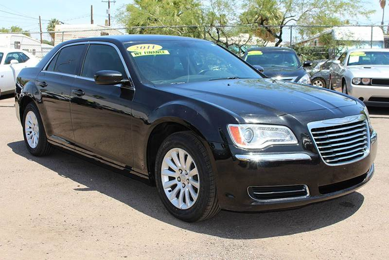 2011 CHRYSLER 300 BASE 4DR SEDAN black the used and improved 2011 chrysler 300 is secure and depe
