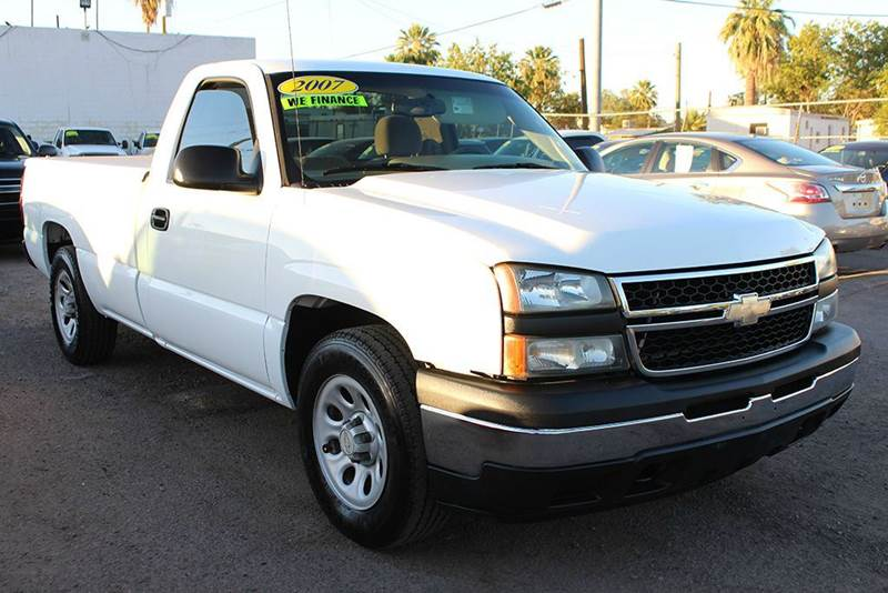 2007 CHEVROLET SILVERADO 1500 CLASSIC WT LONG BED white abs - 4-wheel airbag deactivation - occu