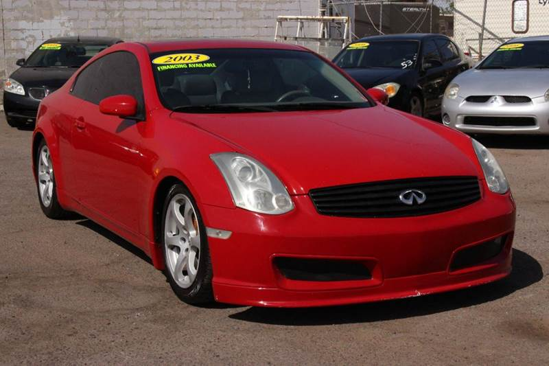 2003 INFINITI G35 BASE 2DR COUPE red this beautiful red 2003 infiniti g35 is equipped with a 35l