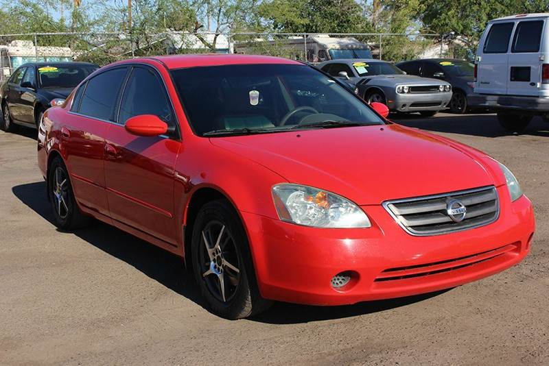 2003 NISSAN ALTIMA 25 S 4DR SEDAN red drive down to discount auto sales and check out this 2003