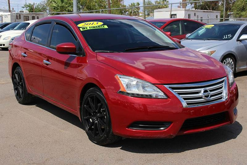 2013 NISSAN SENTRA S 4DR SEDAN 6M red stop by discount auto sales and check out this sporty 2013