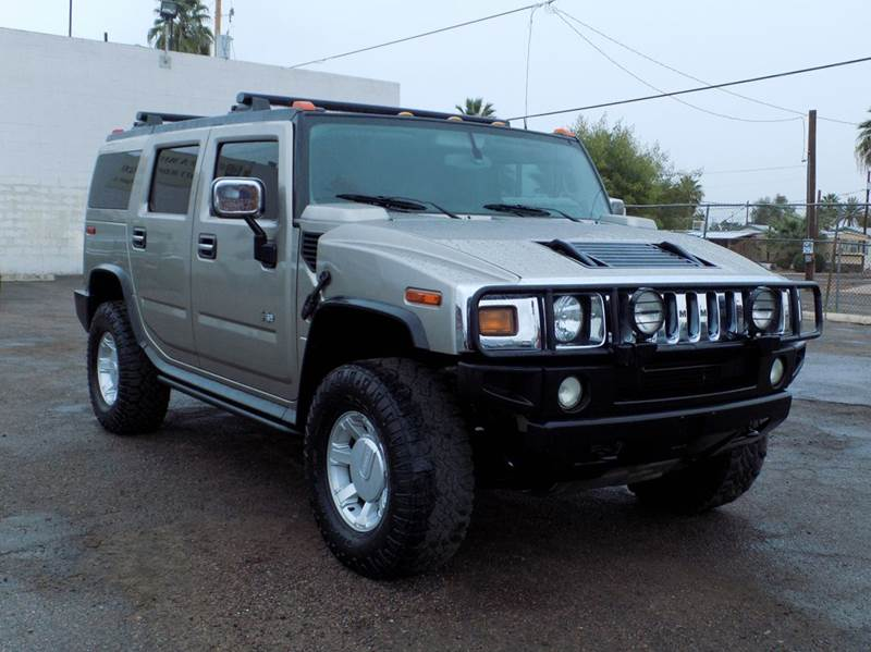 2003 HUMMER H2 ADVENTURE SERIES 4DR 4WD SUV gray this 2003 hummer h2 has a 60l v8 engine and a