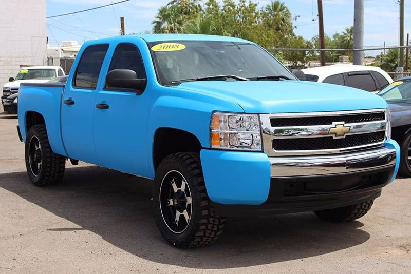 2008 CHEVROLET SILVERADO 1500 LS 4WD 4DR CREW CAB 58 FT SB blue are you looking for a unique 4x
