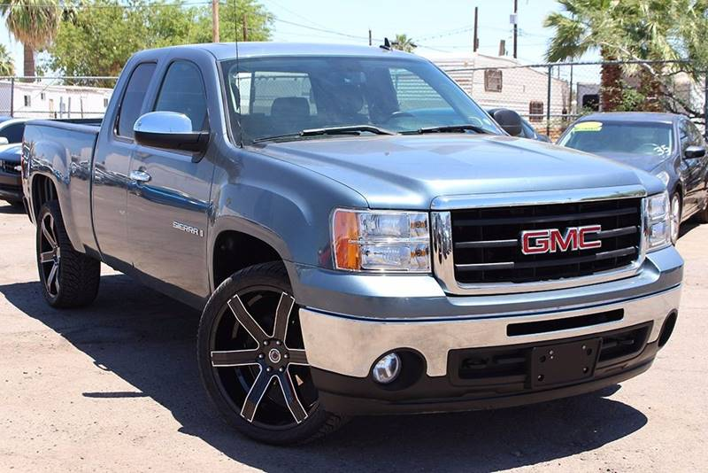 2009 GMC SIERRA 1500 SLE 4X2 4DR EXTENDED CAB 65 FT stealth gray metallic stop by discount auto
