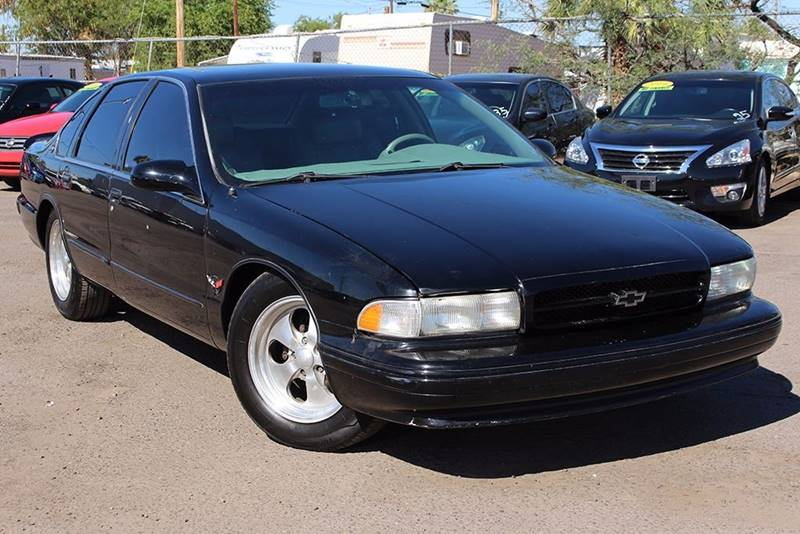 1995 CHEVROLET IMPALA SS 4DR SEDAN black this 1995 chevrolet impala ss is in very high demand but