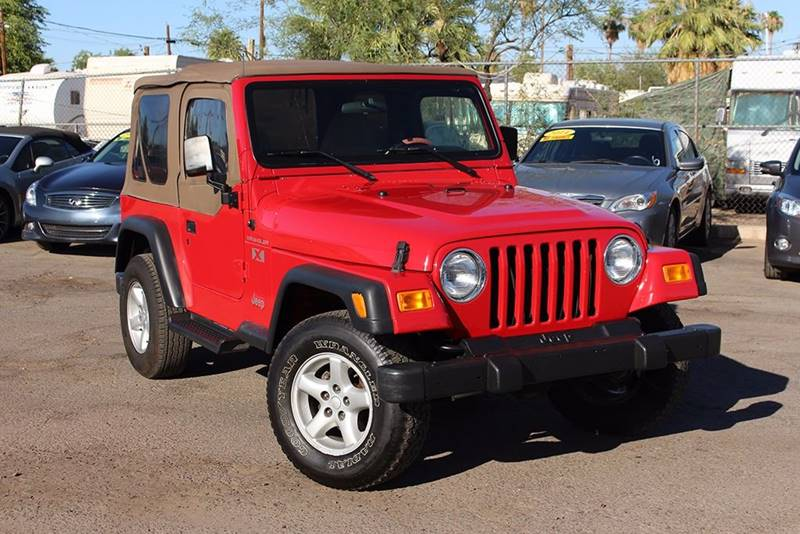 2002 JEEP WRANGLER X 4WD 2DR SUV red come down to discount auto sales and check out this 2002 jee
