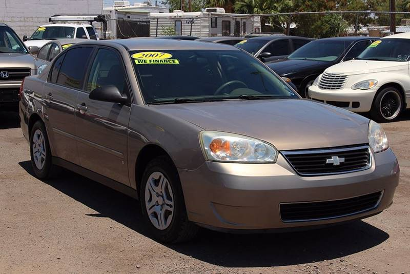 2007 CHEVROLET MALIBU LS 4DR SEDAN gold financing available all prices are subject to tax title