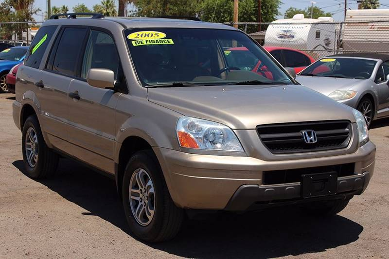 2005 HONDA PILOT EX L 4DR 4WD SUV WLEATHER gold financing available all prices are subject to t
