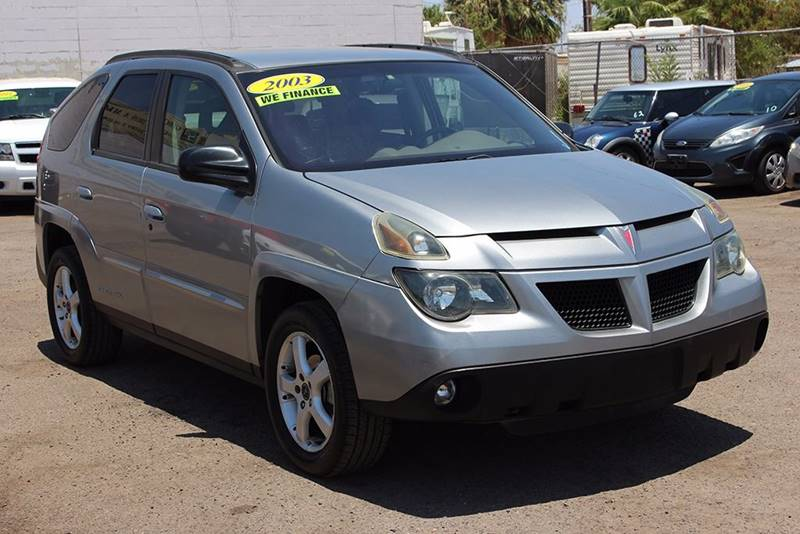 2003 PONTIAC AZTEK BASE FWD 4DR SUV silver front air conditioning center console power steering