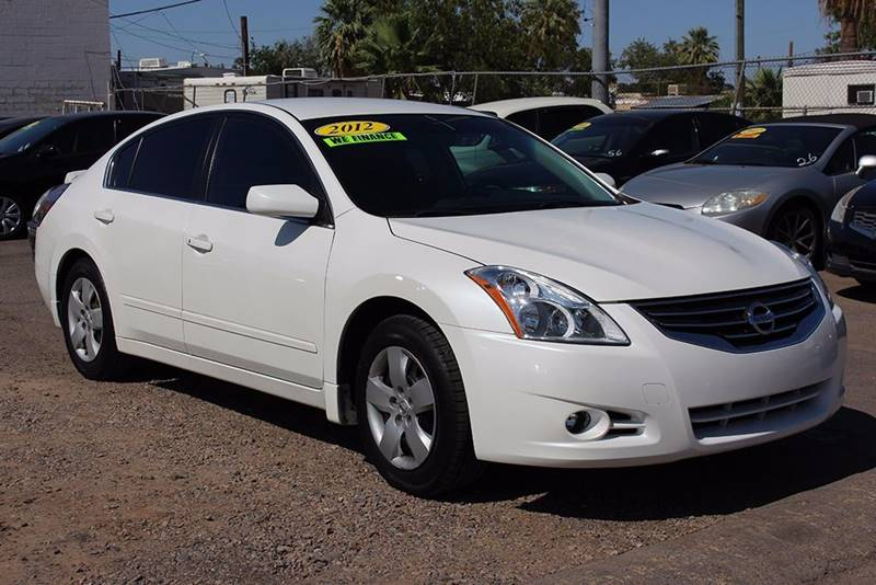 2012 NISSAN ALTIMA 25 S 4DR SEDAN white if you are looking for a secure and fuel efficient vehic