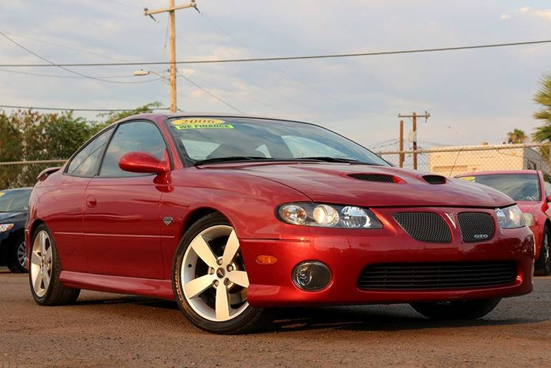 2006 PONTIAC GTO BASE 2DR COUPE red rear spoiler center console trim - leather door trim - allo