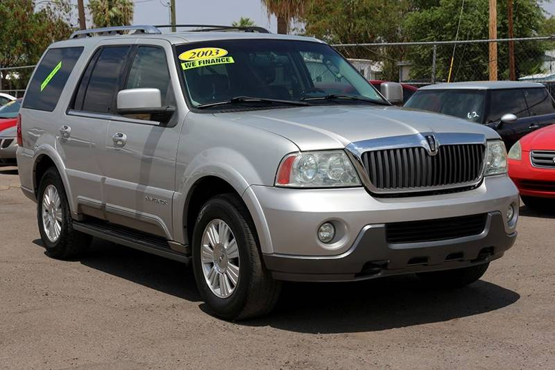 2003 LINCOLN NAVIGATOR LUXURY 4DR SUV silver financing available all prices are subject to tax