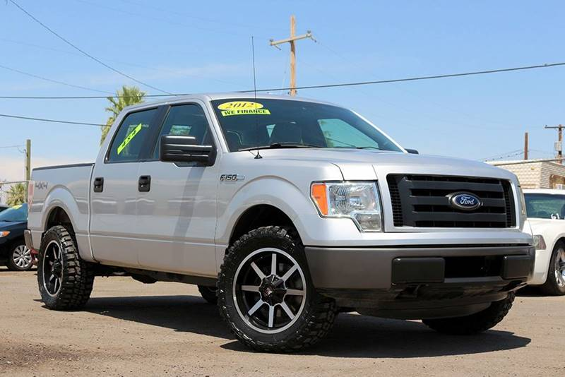 2012 FORD F-150 XL 4X4 4DR SUPERCREW STYLESIDE 5 silver financing available all prices are subje