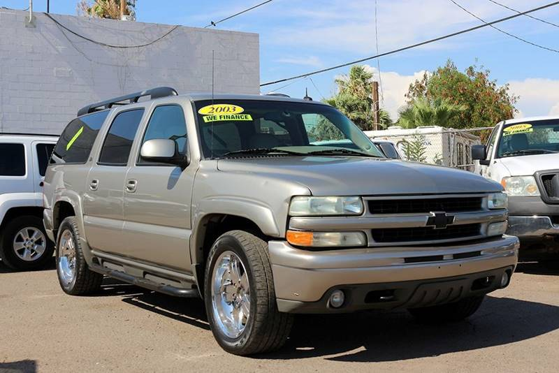 2003 CHEVROLET SUBURBAN 1500 LT 4WD 4DR SUV gold financing available all prices are subject to t