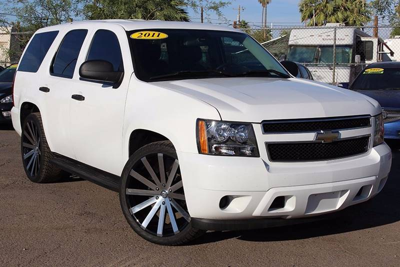 2011 CHEVROLET TAHOE LT white financing available all prices are subject to tax title reg and