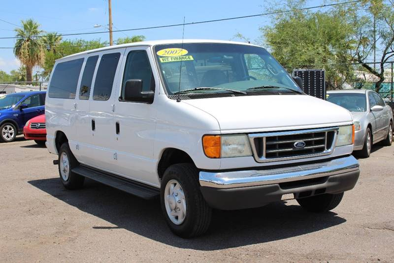 2007 FORD E-SERIES WAGON E 350 SD XLT 3DR PASSENGER VAN white financing available all prices are