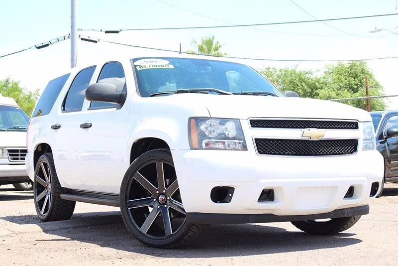 2007 CHEVROLET TAHOE LT white financing available all prices are subject to tax title reg and
