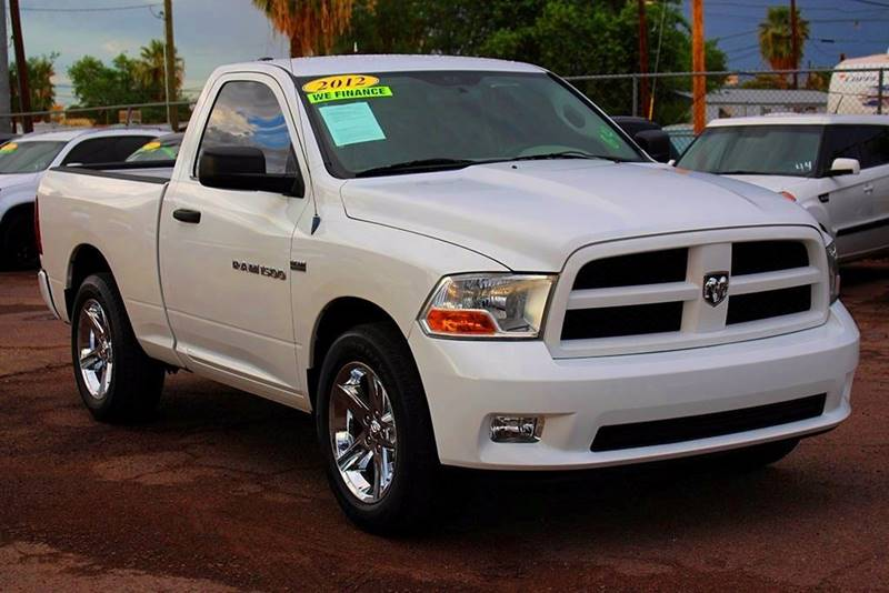 2012 RAM RAM PICKUP 1500 ST 4X2 2DR REGULAR CAB 63 FT S white financing available all prices a