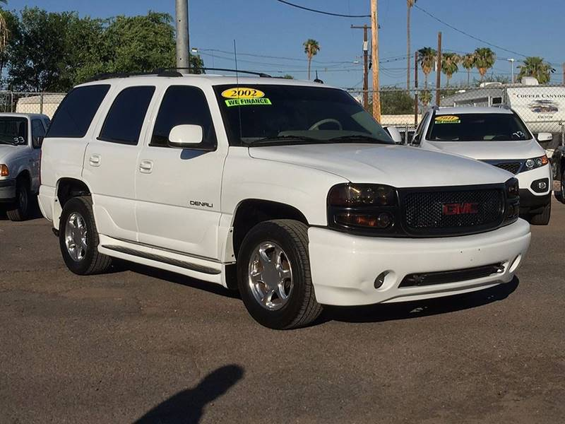 2002 GMC YUKON DENALI AWD 4DR SUV white financing available all prices are subject to tax title