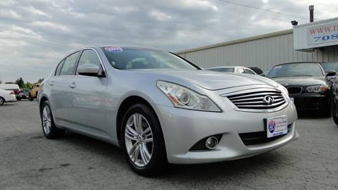 2010 Infiniti G37 Sedan for sale at I-80 Auto Sales in Hazel Crest IL