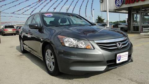 2012 Honda Accord for sale at I-80 Auto Sales in Hazel Crest IL