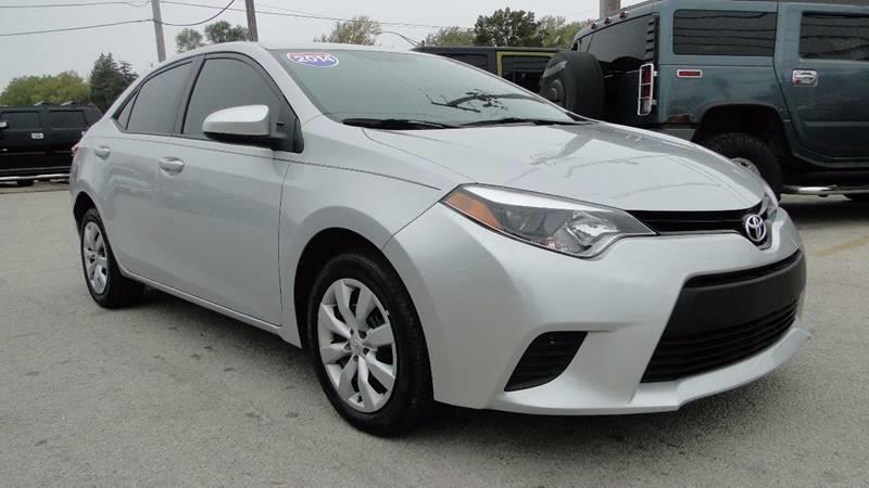 2014 Toyota Corolla For Sale >> 2014 Toyota Corolla Le In Hazel Crest Il I 80 Auto Sales