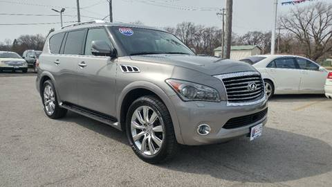 2012 Infiniti QX56 for sale at I-80 Auto Sales in Hazel Crest IL