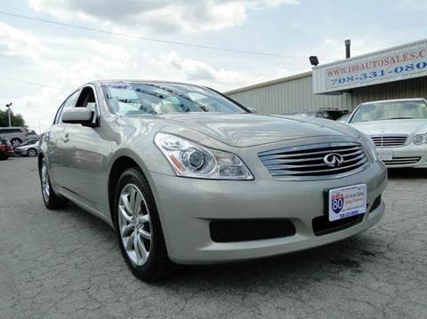 2008 Infiniti G35 for sale at I-80 Auto Sales in Hazel Crest IL