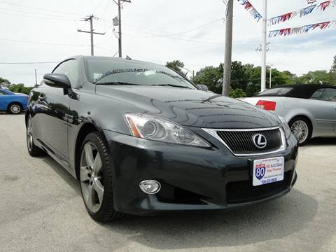 2010 Lexus IS 350C for sale at I-80 Auto Sales in Hazel Crest IL