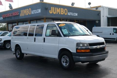 2010 Chevrolet Express Passenger for sale at Jumbo Auto & Truck Plaza in Hollywood FL