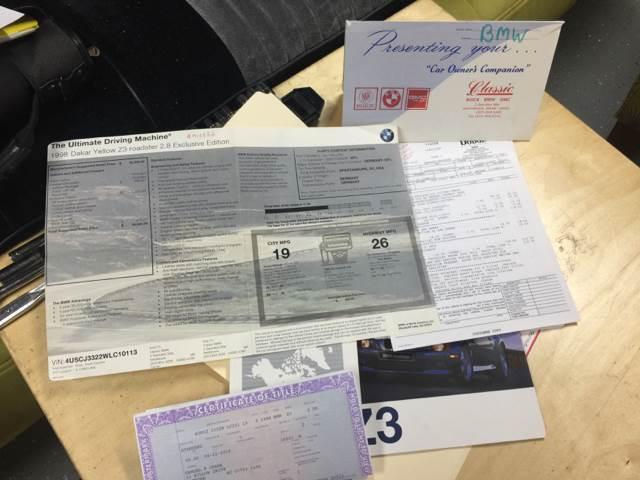 1998 BMW Z3 2.8 2dr Convertible - Hammonton NJ